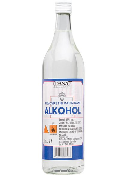 PRVOVRSTNI RAFINIRANI ALKOHOL 96 %