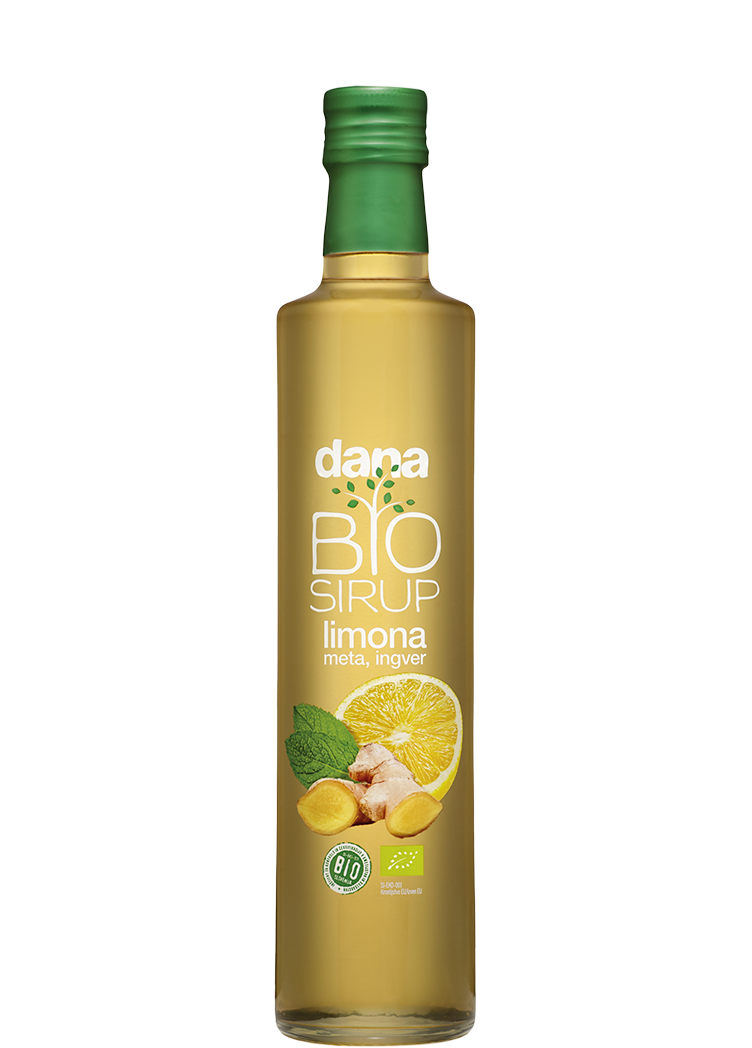 DANA BIO lemon, mint & ginger fruit syrup