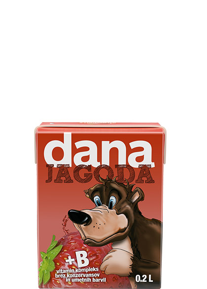 DANA fruit drink 10%, strawberry