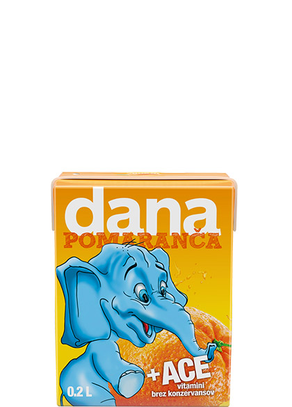 DANA fruit drink 10%, orange