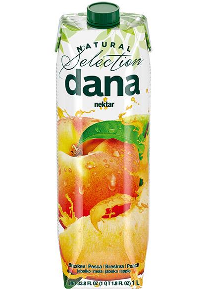 DANA nektar 50 %, breskev, jabolko