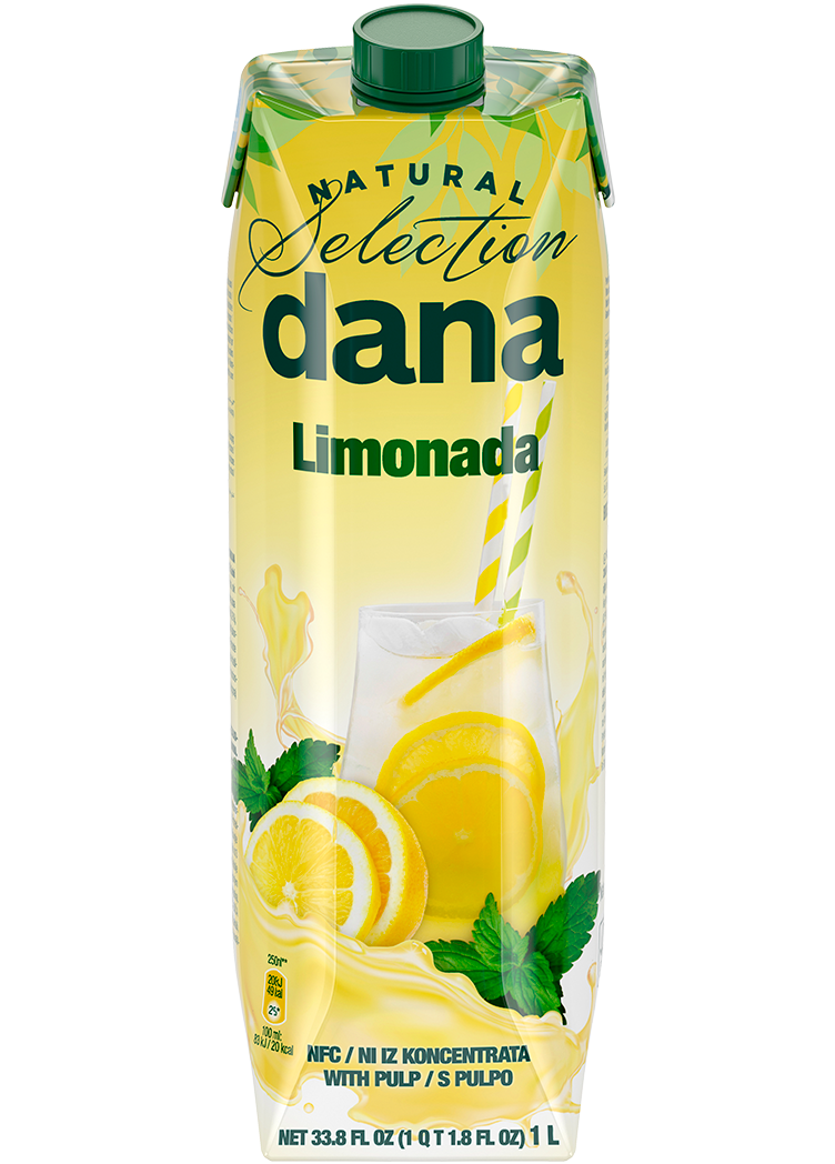 Dana noncarbonated nonalcoholic beverage with lemon juice