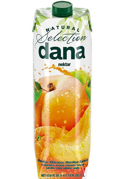 DANA nectar 42%, apricot, orange, apple