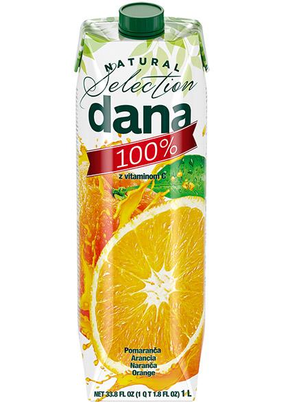 DANA 100 % sok, pomaranča