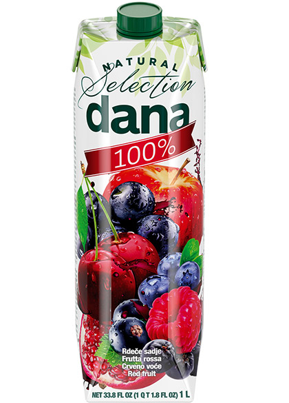 DANA 100% juice, red fruits