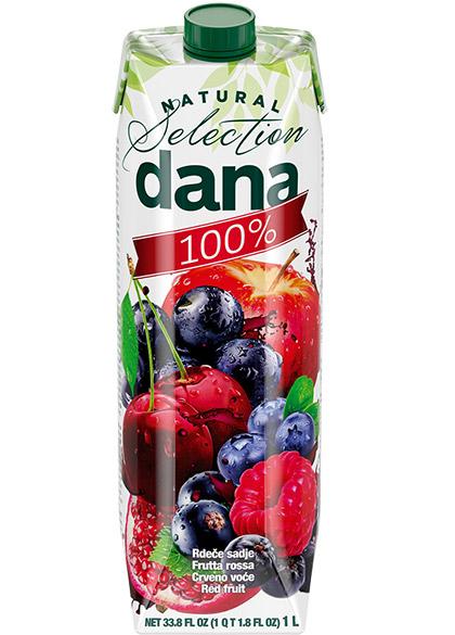 DANA 100 % sok, rdeče sadje