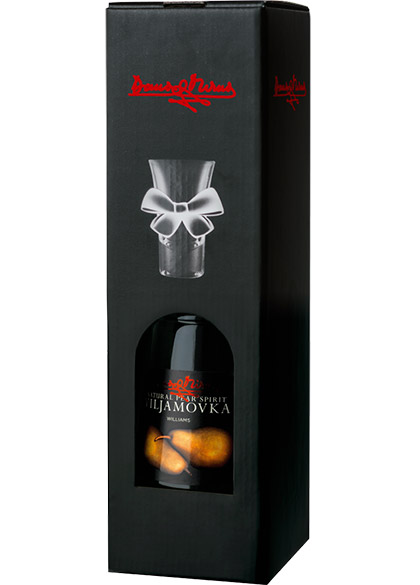 Viljamovka 40%, 0,7L – gifts with glass